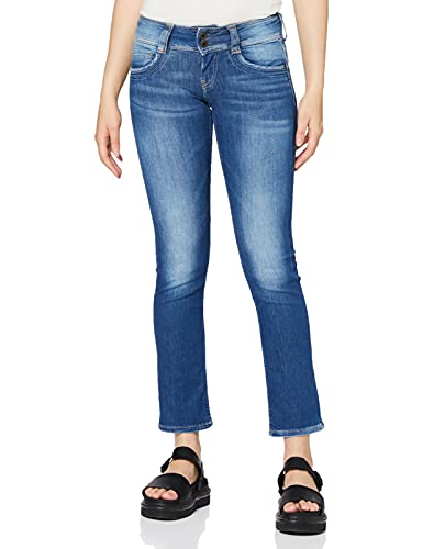 Pepe Jeans Gen Jeans, Blu (Denim 100Z STR 8DIP Royal Dk D45), 28 W - 30 L Donna