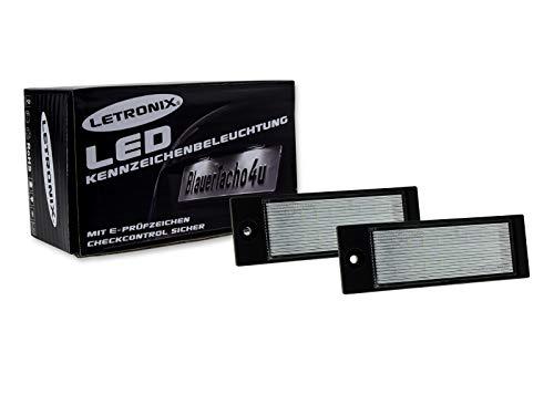 LETRONIX SMD LED Kennzeichenbeleuchtung Module Tucson Vor-Facelift 2015-2018 / Ceed SW Typ CD ab 2018 / XCeed ab 2019 mit E-Prüfzeichen