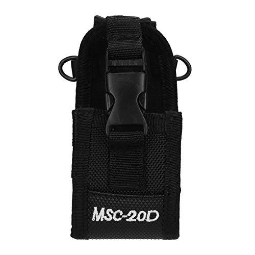 Estuche para radio 20D Nylon Arm Pack Walkie Talkie Bolsa para Baofeng UV-5R 888S 5RB / Midland LXT500 GXT1000 / YEASU VX-7R / KENWOOD Tk3107 3207, Negro