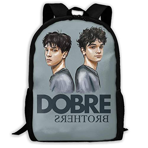 AOOEDM Dobre Brothers Laptop Backpack Durable Laptops Backpack, Water Resistant College School Computer Bag Gifts for Men and Women Fits 15 Inch Notebook