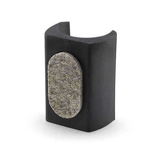 GleitGut 4 x Klemmgleiter für Freischwinger 23-27 mm Filzgleiter für Schwingstuhl Rundrohr schwarz mit Zapfen