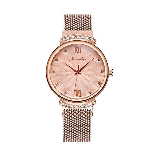 Relojes Para Mujer Relojes romanos de la moda casual Relojes romanos de las mujeres de la correa de la hebilla magnética del diamante del reloj del cuarzo del diamante Relojes de la pulsera Relojes De