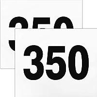 ゼッケン 陸上競技用プリント入り2枚セット サイズ24cm×20cm 1段組 黒