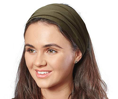 Antonia York, Stirnband für Damen, Turban, breites Kopfband Gr. Einheitsgröße, khaki