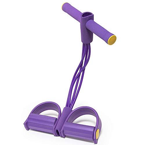 LEZED Corda Elastica Multifunzionale per Allenamento di Resistenza per casa Fasce Elastiche di Resistenza Sit-up Yoga Fitness Fascia per Gambe con Pedali Corda di Resistenza del Corpo Completa Bands