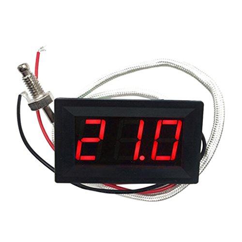 -30c-800c Temperatura Termocoppia Digitale A Led Con Termometro A Pannello - Rosso