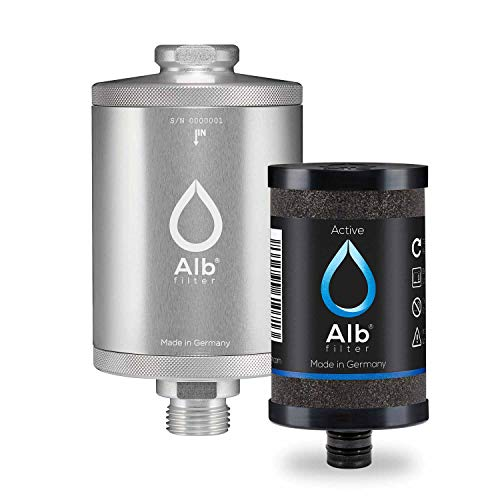 Alb Filter® Active Trinkwasser-Filter reduziert Schadstoffe, Schwermetalle, Mikro-Plastik. Made in Germany Silber