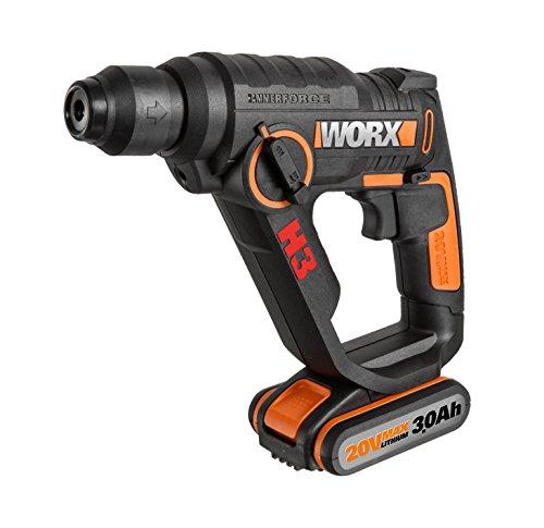 Worx wx390.31martillo neumático H3–3in 1, 20V, Negro