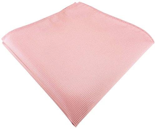 TigerTie Einstecktuch in rosa altrosa einfarbig Uni Rips gemustert