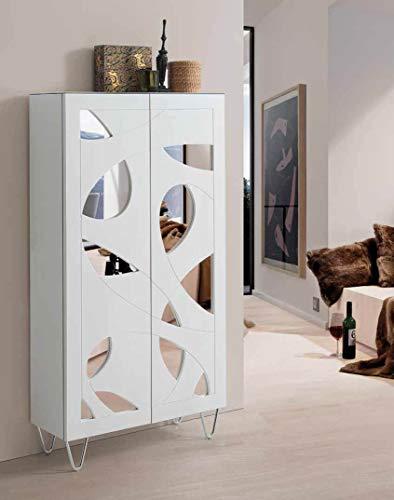 DISARTE - Mueble Auxiliar - Taquillones/Zapateros Modernos - Nature Alto Color Blanco (73x27x136)