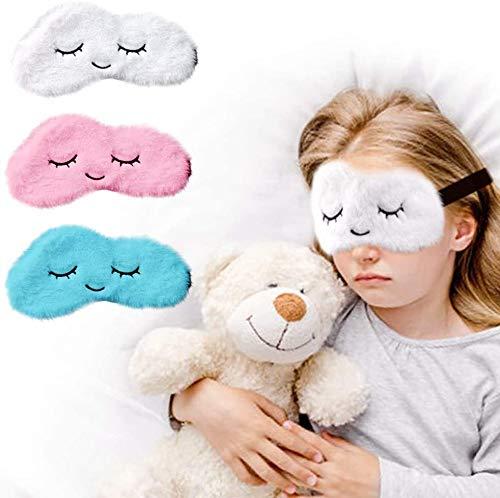 Softe Premium Schlafmaske für Kinder im 3er Set I Süße Augenmaske für Mädchen und Jungen I Blockt zu 100{b2beaf4bf0106f183f421aa72fc9869f1bcb1b0798fd2a5f8dc3b34021bfcf46} Licht I Atmungsaktiv & Schadstoffrei