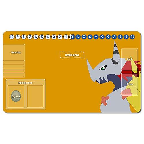 701858de -Digimon Spielematten , Digimon playmat Brettspiel Digimon Mouse pad MTG Playmat Tischmatte Spiele Größe 60X35 cm Mousepad Spielmatte für TCG CCG Yugioh Digimon Magic The Gathering