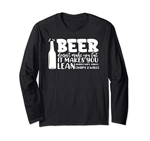 Bier macht dich nicht fett Es lehnt dich an Riegel Langarmshirt