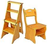 HOMRanger Multifunktionsleiter Stühle Nordic Creative Four-Layers Faltbare Multilayer Massivholzstuhl Leitern Treppenhaus Hocker Tritthocker Bibliothek Hocker (Col
