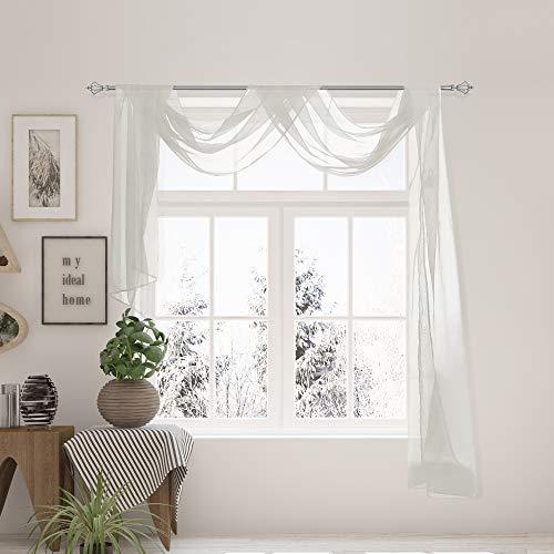 VNKDECO Voile Sheer Valance Window …