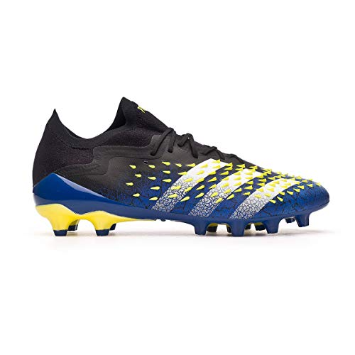 adidas Predator Freak .1 L AG, Bota de fútbol, Black-White-Solar Yellow, Talla 6 UK (39 1/3 EU)