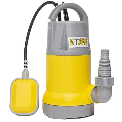 Stark 1.5HP Submersible Clean Dirty Water Pump Swimming Pool Pond Flood Drain 3700 GPH with Float Switch Trigger Pump, Yellow