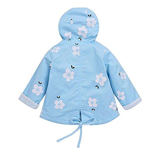 G-Kids G-Kids Baby Mädchen Jacke Übergangsjacke Gedruckt Kapuzenjacke Kinder Prinzessin Frühling Herbst Outwear Blau 90