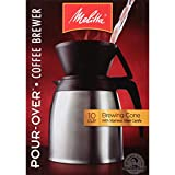 Melitta Coffee Maker, 10 Cup Pour- Over Brewer with Stainless Thermal Carafe, Steel Carafe...