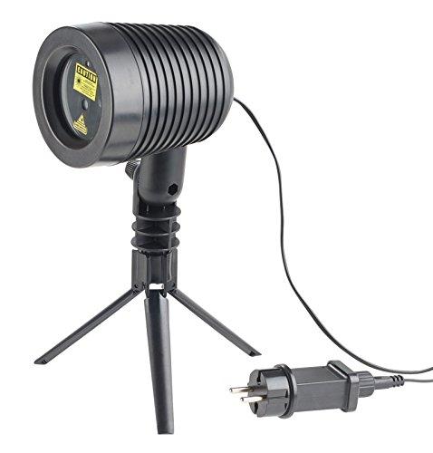 Lunartec Laser Projektor: Laserprojektor, bewegter Sternen-Regen-Lichteffekt, rot & grün, IP44 (Laser Sternenhimmel)