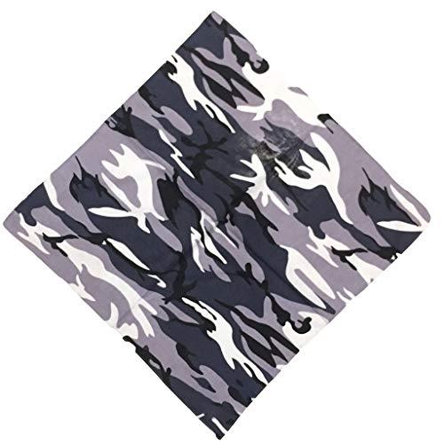 WE-WHLL Bandanas de algodón con Estampado de Camuflaje Unisex Bandanas tácticas Militares para la Cabeza Pulsera de la Selva al Aire Libre Deportes Ciclismo Bufanda Cuadrada Sombreros
