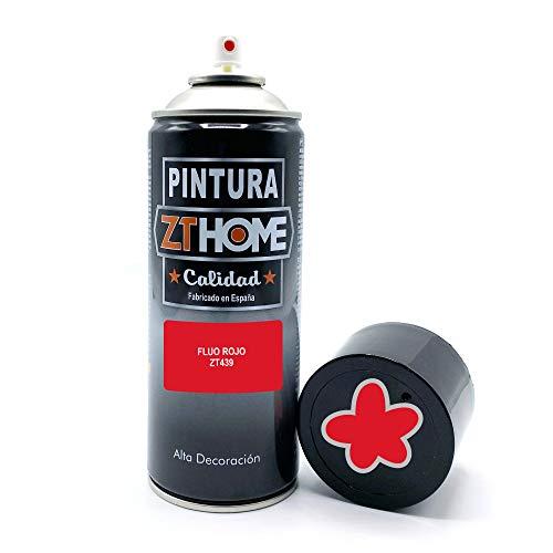 Vernice spray | Vernice Spray Rosso Fluorescente | 400 ml | Bomboletta Spray per legno, alluminio, ferro, ceramica, plastica, antiruggine. Vernice bomboletta spray per bici, cerchi, graffiti.