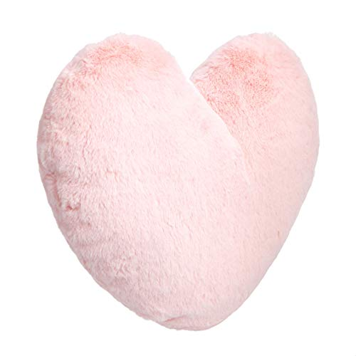 Amazon Basics - KDP1-001-HT, cojín decorativo, 45,72 x 40,64cm, corazón rosa