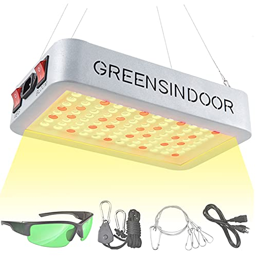 GREENSINDOOR Grow Lights for Indoor Plants Full Spectrum 45W LED Growing Light Hanging Grow Lamp for Greenhouse Hydroponic (Pack of One)
