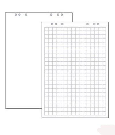 Flipchart Flip Chart Blöcke Papier - 5 x 20 Blatt im Karton - Conipa Markenpapier