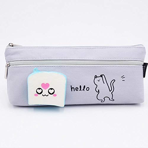 Pencil Box Primary School Stationery Bag Large Capacity Pencil Bag,C