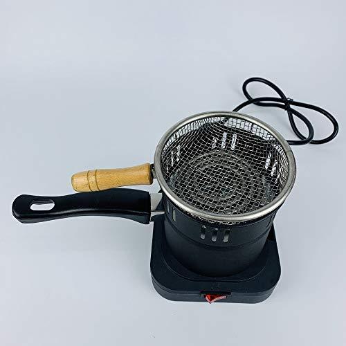 SSOLEREIT Shisha Kohle Heizung Elektrokohle Starter Brenner-Ofen Holzkohle Carbon-Hot Plate Runde Mini-Anzünder-Starter Kohle-Brenner for eine bessere Vergnügen Raucher