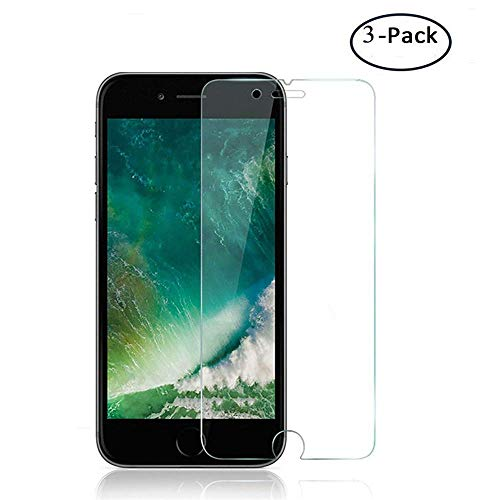 Screen Protector Compatible for iPhone 8 Plus, 7 Plus 6S Plus 6 Plus,Case Friendly,Easy Installation,Tempered Glass for iPhone 8 Plus, 7 Plus, iPhone 6S Plus, 6 Plus Screen Protector.[3 Packs]