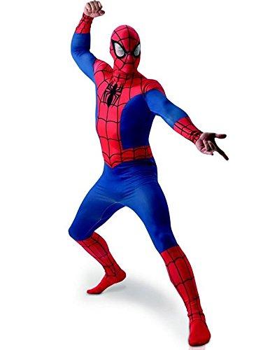 MARVEL ~ Spider-Man - adulto del vestido de lujo del traje de licencia Con separada Redecilla Nuevo 2015 Tamaño X-Large (Pecho 42-46 ')