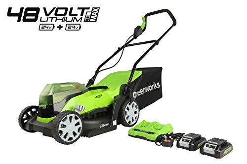 Greenworks G24X2LM36K2x Tondeuse à Gazon sans Fil sur Batterie 36 cm 2 x...