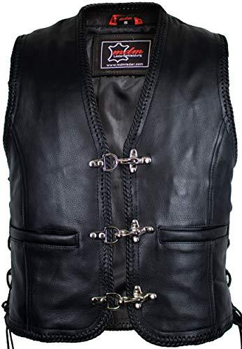MDM Lederweste mit Kordeln und Schnallen (XL)