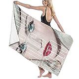 Kay Sam Toalla de Playa de Microfibra de Secado rápido Toalla de Piscina de Playa 100% poliéster Toallas Madonna de Alta absorción