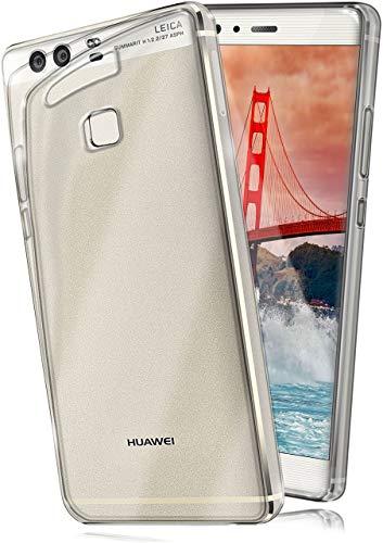 MoEx Cover Trasparente Compatibile con Huawei P9 | Anti-Scivolo ed Extra Sottile, Trasparente