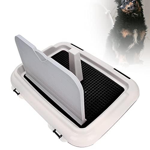 KAKAKE Inodoro para Entrenamiento de Cachorros, fácil de Instalar, Inodoro para Mascotas, Orinal para Perros, plástico Perros pequeños o Cachorros (Peso Recomendado de Menos(Black)