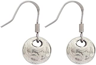 product image for DANFORTH - Serenity Mini Earrings - 1/2 Inch - Pewter - Surgical Steel Wires - Handcrafted - USA