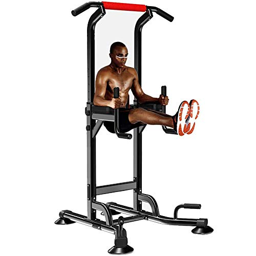 Adjustable Power Tower - Multi Function Pull up Station for Strength Training - Dip Stand Workout Fitness Bar - Push up Equipment of Home Gym Exercise