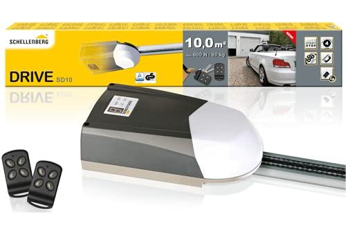 Schellenberg 60911 Kit automazione Basculante Garage Smart Drive 10, 2X trasmettori, PRO Porte Fino a Massimo...