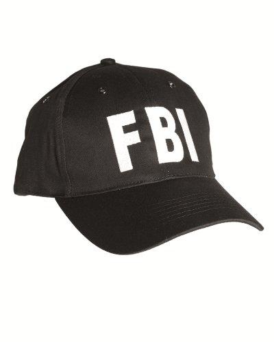 Mil-Tec FBI Casquette avec bande de plastique Noir
