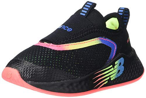 New Balance Kids Fresh Foam Fast V2 Slip-On Running Shoe, Black, 8 Wide US Unisex Toddler