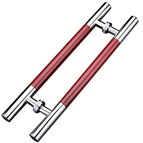 Türbeschläge Rot Holzmaserung Malen Griff Aus Edelstahl, Bürohotel Glastür Push-Pull-Handlauf Scheunentor Schiebegriff, Länge 60/80 / 120cm (Size : 800×600mm)