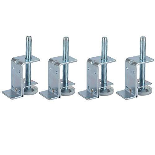 Zócalo de soportes ajustables para trabajo pesado de 4 piezas con pies niveladores, niveladores de patas para muebles, pies roscados M10, para pisos de madera dura