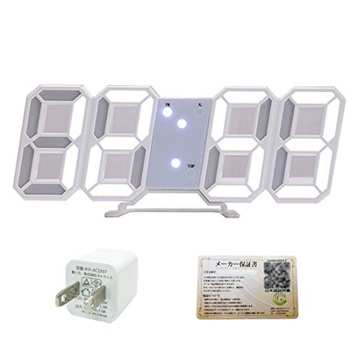 GOLWIS 3D LED 時計 置き時計 掛け時計 インテリア デジタル 小型 スタンド ウォール 壁掛け 目覚まし アラーム 時間 時刻 日付 温度 3段階 調光 省エネ 多機能 USB充電 3D LED 時計 置き時計 掛け時計 インテリア デジタル 小型 スタンド ウォール 壁掛け 目覚まし アラーム 時間 時刻 日付 温度 3段階 調光 省エネ 多機能 USB充電