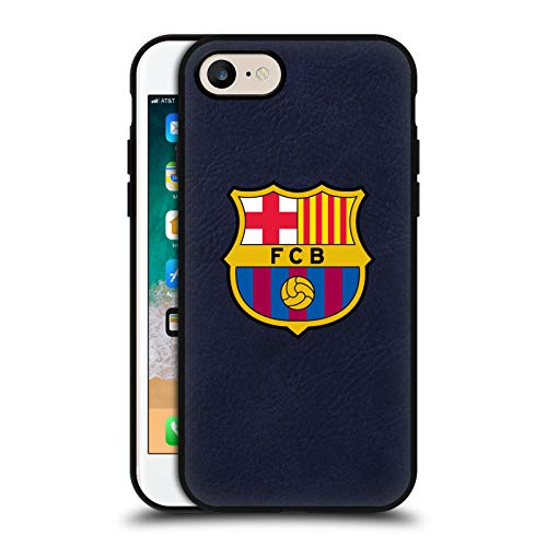 Head Case Designs Offizielle FC Barcelona Voll Logo Blau Leder Rueckseiten Huelle kompatibel mit Apple iPhone 7 / iPhone 8 / iPhone SE 2020