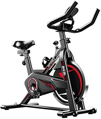 ZJDM Bicicleta para Bicicletas de Interior, Bicicletas de Ejercicio Verticales, con Volante accionado por cinturón, Resistencia Infinita, con Asiento de Manillar Ajustable, el Monitor LCD Lee Vel