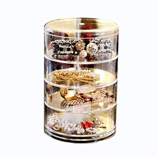 IRVING Transparent Rotating Cosmetics Staub Ohrringe Ring Armband Haarspangen Lippenstift Tragbare Schmuck Organizer Rack
