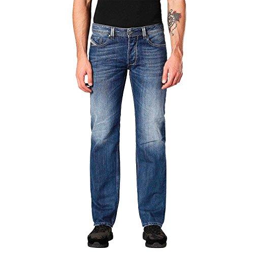 Diesel Herren Straight Jeans Larkee Pantaloni, Blau (Medium Blue 01), W36/L34